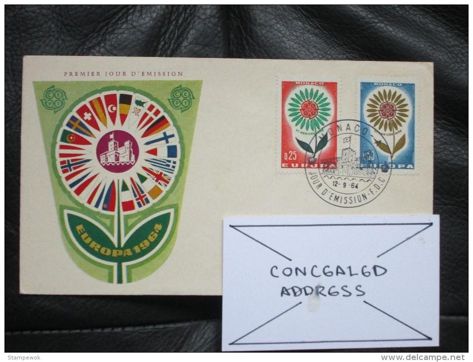 1964 Monaco - Europa CEPT - Postally-used FDC - 1964