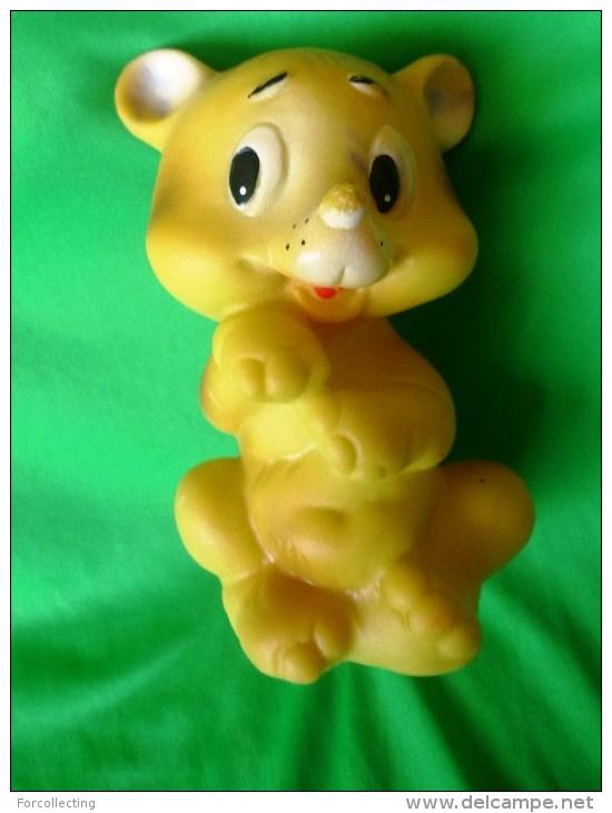 Vintage USSR Rubber Toy BEAR Dog 1970s - 1980s - Soviet Union Toys - Figurillas