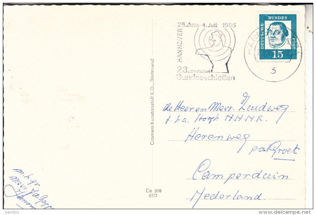 SPORT - SCHIESSEN - Sonderstempel Bundeschiessen Hannover 1965 - Waffenschiessen