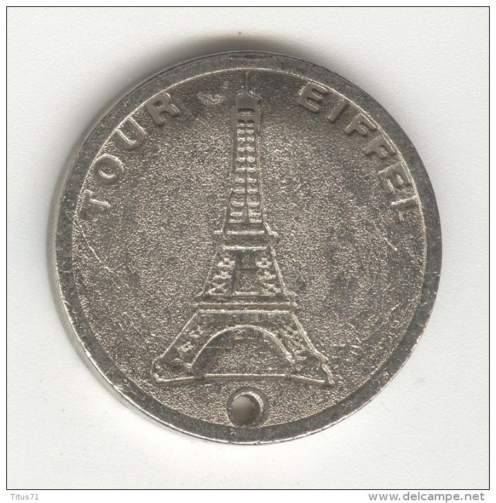 Pendentif Tour Eiffel - 2 Faces Identiques - Jetons & Médailles