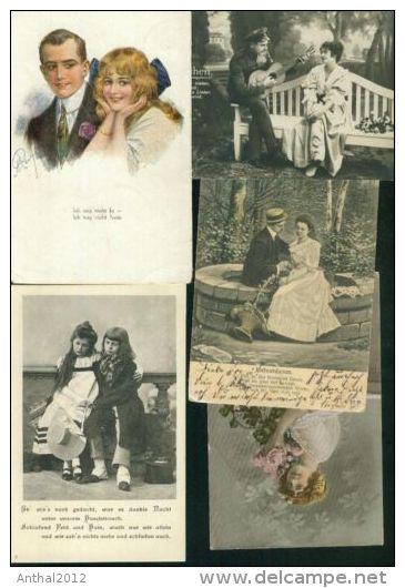 Sammlung Collection 39 AK Nur Kleinformat Vor 1945 Soldat Person Tracht Kind Paare Paar Rar - 5 - 99 Karten