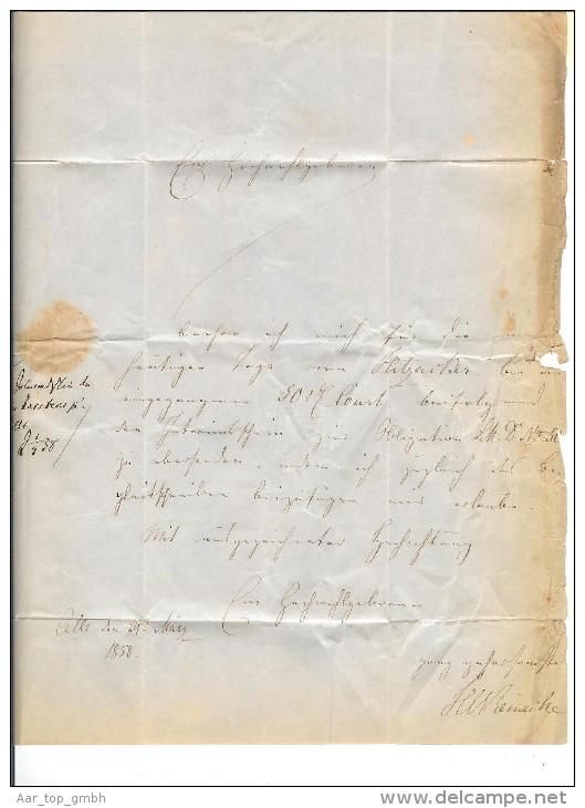 Heimat DE NS Celle 1858-03-20 Brief Mi# 9 > Hannover - Hanover