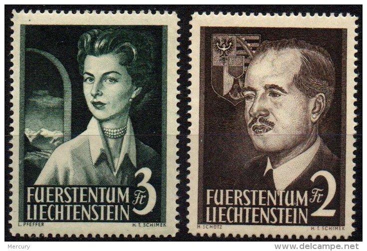 LIECHTENSTEIN - Couple Princier De 1955 Neuf TB - Liechtenstein