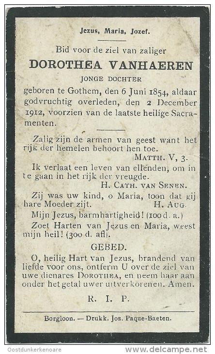 Doodsprentje: VANHAEREN Dorothea. ° Gothem 1854-1912. Jonge Dochter - Religion & Esotericism