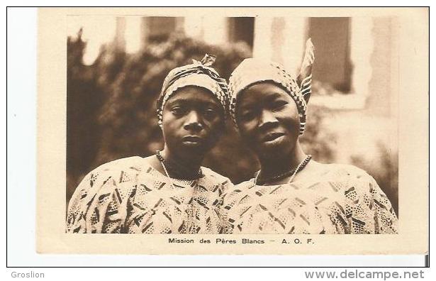 AFRIQUE OCCIDENTALE FRANCAISE (DEUX JEUNES FEMMES POSANT) - Non Classés