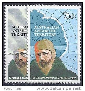 ANTÁRTIDA AUSTRALIANA 1982 - Yvert #53/4 - MNH ** - Australian Antarctic Territory (AAT)