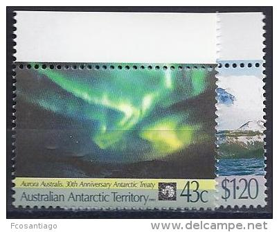 ANTÁRTIDA AUSTRALIANA 1991 - Yvert #88/89 - MNH ** - Australian Antarctic Territory (AAT)