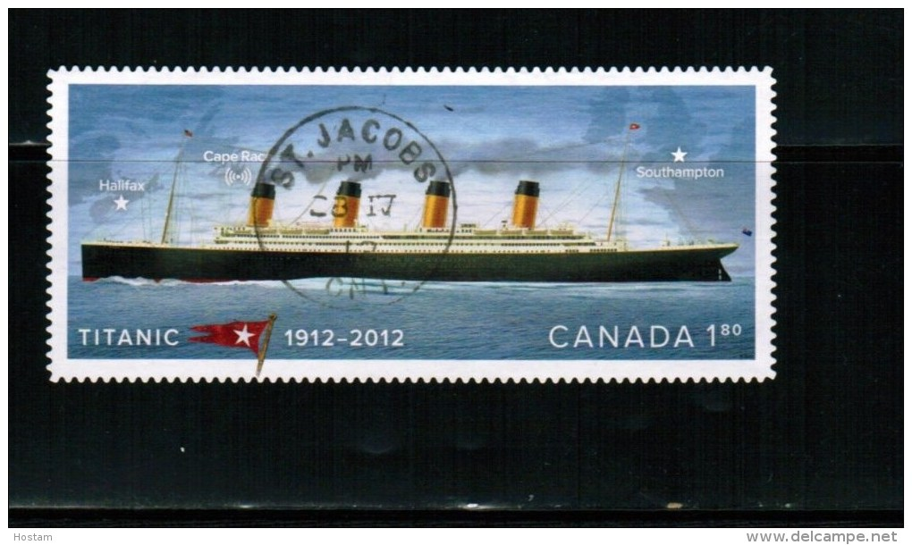 CANADA. 2012,USED  # 2538,  TITANIC 100TH Annv. Single Of International Rate From Booklet  USED - Carnets