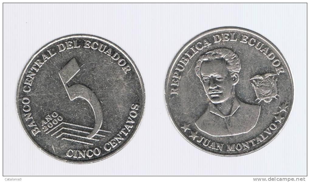 ECUADOR -  5 Centavos  2000  KM105 - Ecuador