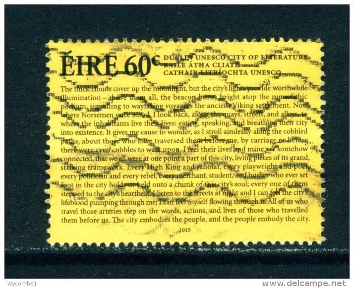 IRELAND  -  2013  Dublin City Of Literature  60c  Used As Scan - 1949-... Republic Of Ireland