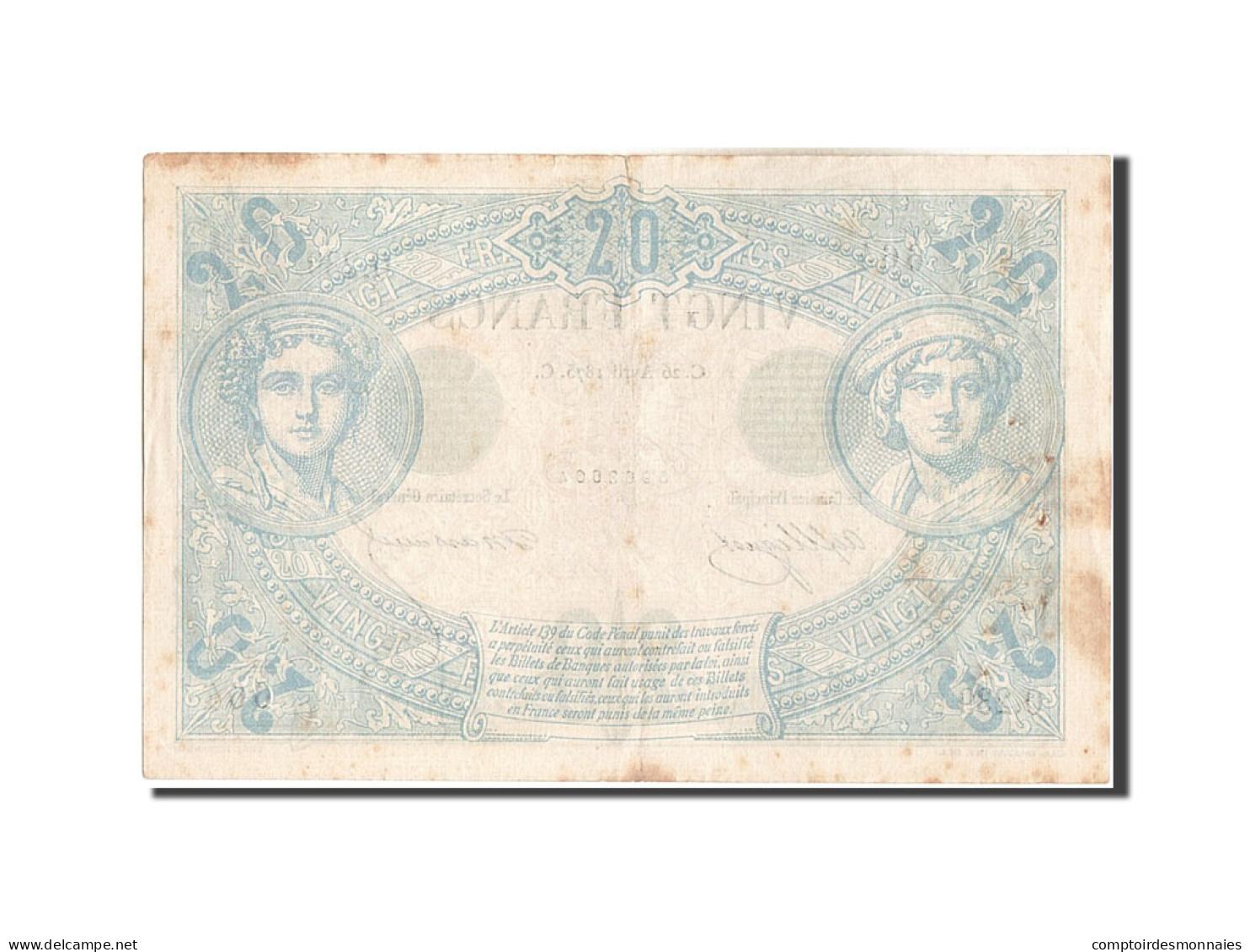 [#206596] 20 Francs Type Noir, 26 Avril 1875, Fayette 9.2 - 1871-1952 Antichi Franchi Circolanti Nel XX Secolo