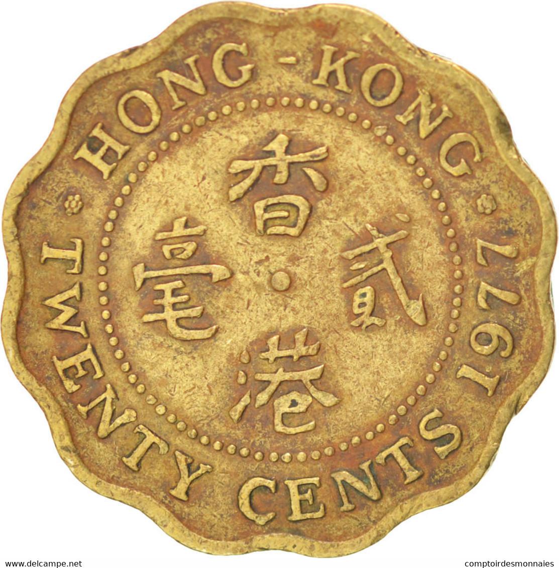 [#38278] Hong Kong, Elizabeth II, 20 Cents, 1977, KM 36 - Hong Kong