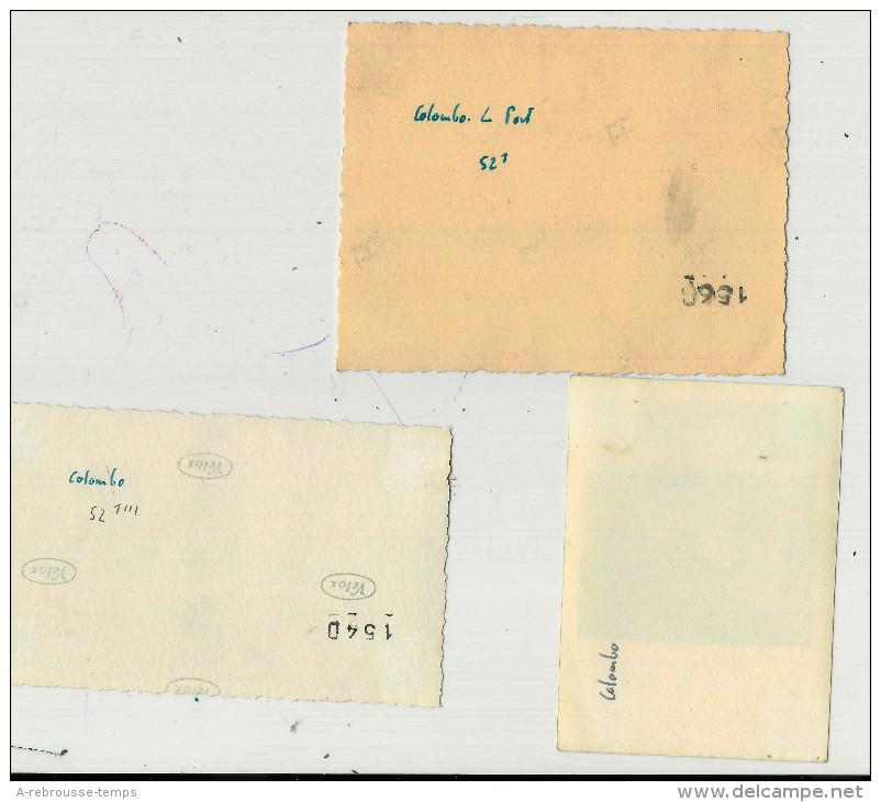 N°18-1945-3 Photos-A Bord Du Porte-avions Béarn-photos De L' Arrivée à Colombo-port-embarcation - Guerre, Militaire
