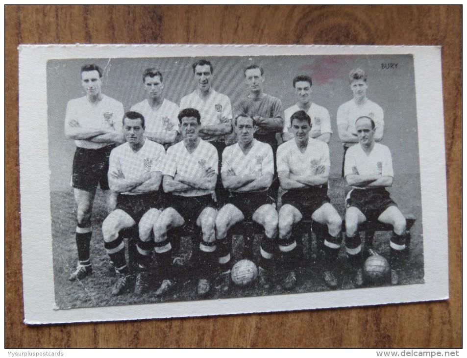 47660 POSTCARD / PHOTOGRAPH: SOCCER / FOOTBALL: Bury. - Soccer
