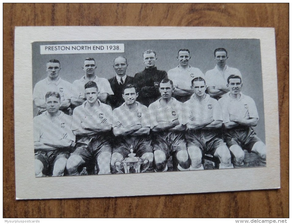 47661 POSTCARD / PHOTOGRAPH: SOCCER / FOOTBALL: Preston North End 1938. - Soccer