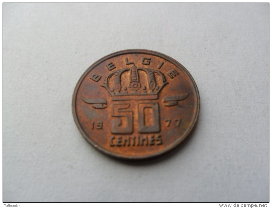 50 Centimes 1977 Type Mineur En Néerlandais - 03. 50 Centimes