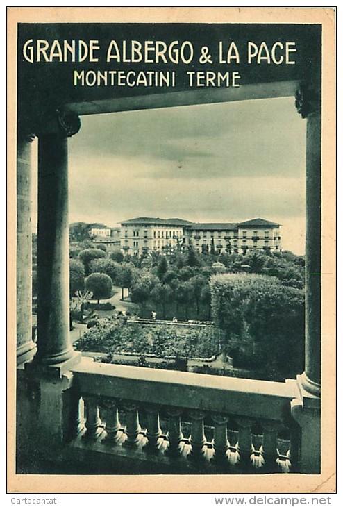 MONTECATINI TERME. GRANDE ALBERGO & LA PACE. BELLA CARTOLINA ANNI '40 - Italy