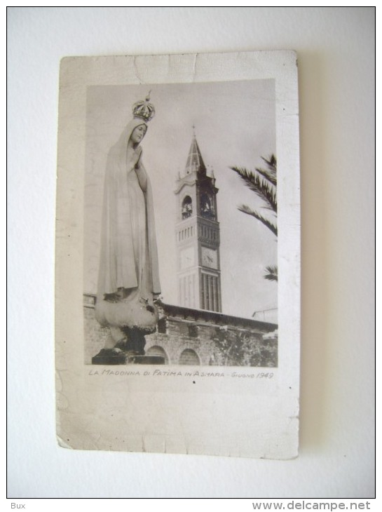 1949 MADONNA DI FATIMA   AD ASMARA AFRICA AFRIQUE ERITREA    SANTO SANCTUS SAINT IMAGE PIEUSES  ANDACHTSBILD - Devotion Images