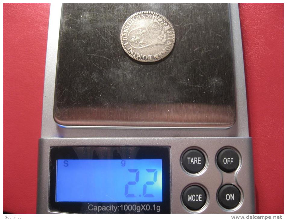 1/12 D'ecu Louis XIV 1650 L Bayonne - Type à La Mèche Longue 9195 - 987-1789 Monnaies Royales