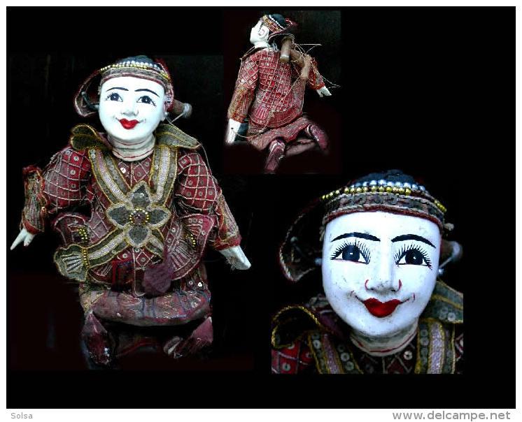 Marionnette Birmane: Bayin Le Roi / Burmese Puppet Featuring The King - Marionetas