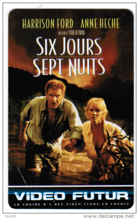 VIDEO FUTUR N° 50 SIX JOURS SEPT NUIT . HARRISON FORD . ANNE HECHE FILM USA 1998 REAL IVAN REITMAN - Video Futur