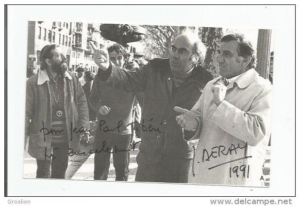 JACQUES DERAY CARTON AVEC AUTOGRAPHE 1991 - Autographs
