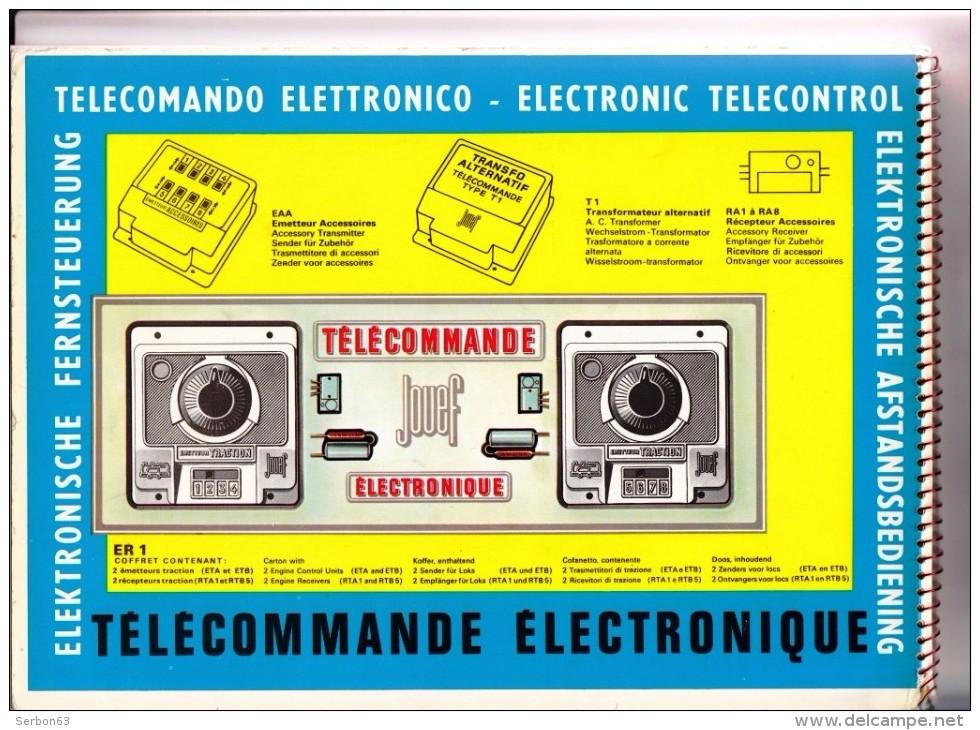UN CATALOGUE JOUEF PLANS ET DECORS DE RESEAUX HO TELECOMMANDE 48 PAGES AVEC CALQUES POUR CONNECTIONS VENDU EN L'ETAT - Other