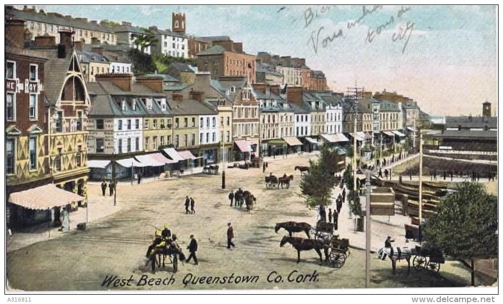 Cpa   WEST BEACH QUEENSTOWN  Co.cork - Cork