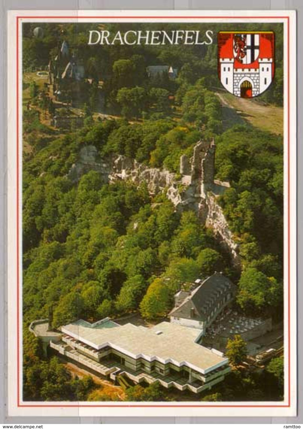 Königswinter Am Rhein , Drachenfels Mit Restaurant Und Schloß Drachenburg - Koenigswinter