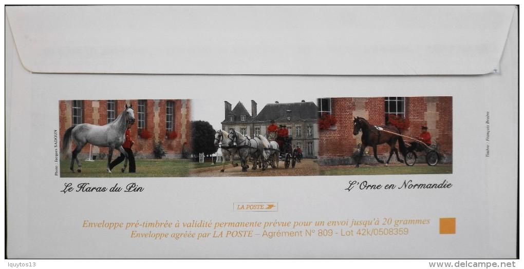 P.A.P. - 2005 - Le Haras Du Pin N° 3808 Y & T - Enveloppe Illustrée  - Neuve - - Ganzsachen