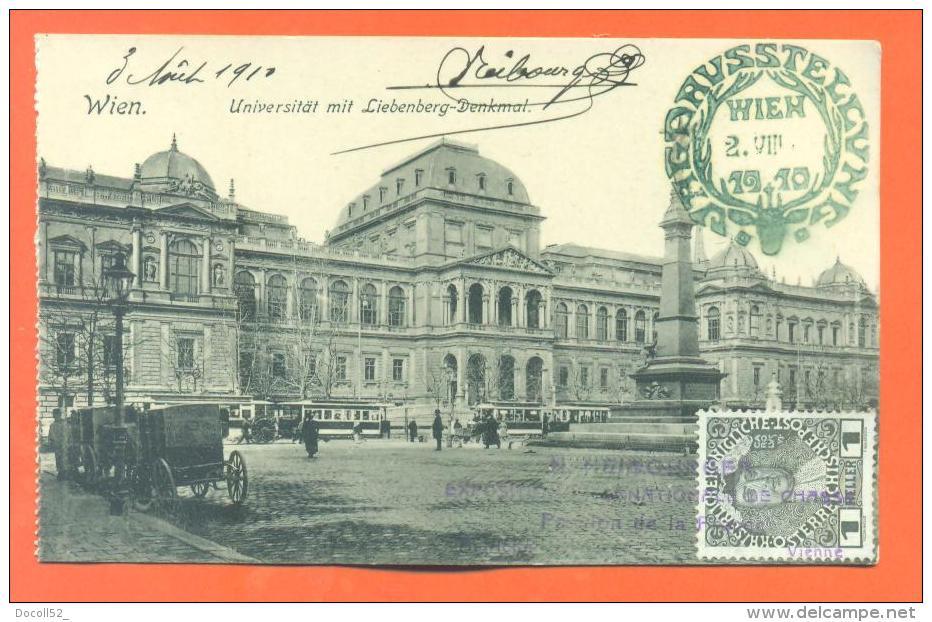 "Vienne Neibourgen ""  Exposition Internationale De Chasse 2 Aout 1910 "" Obliteration + Tampon - Vienna"