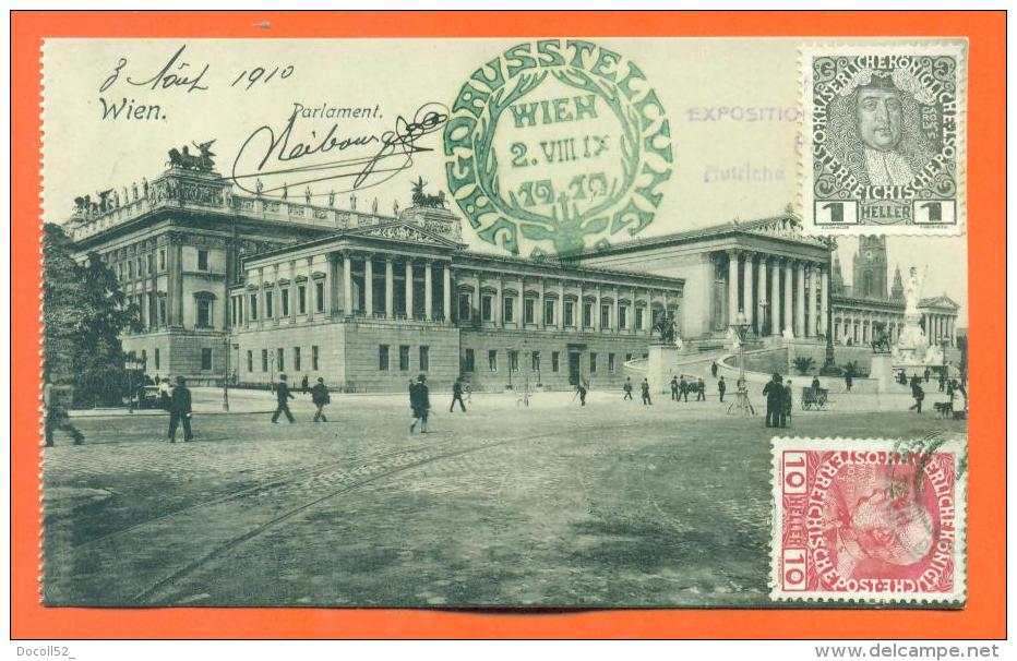 "Vienne Neibourgen ""  Exposition Internationale De Chasse 2 Aout 1910 ""  Obliteration + Tampon - Non Classificati"