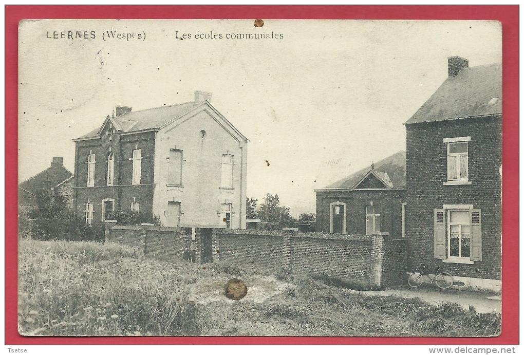 Leernes ( Wespes ) - Les écoles Communales - 1920 ( Voir Verso ) - Fontaine-l'Evêque
