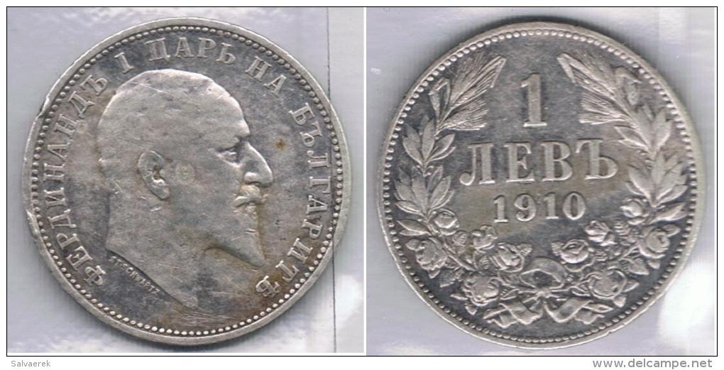 BULGARIA  LEBA 1910 PLATA SILVER Za - Bulgaria