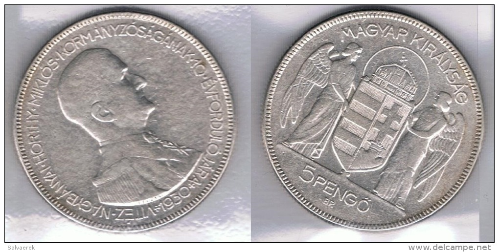 HUNGRIA  PENGO 1930 PLATA SILVER Za - Hungría
