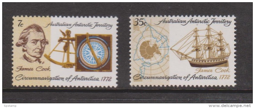 Australian Antarctic Territory 1972 Captain Cook  Anniversary Set 2 MNH - Territorio Antartico Australiano (AAT)