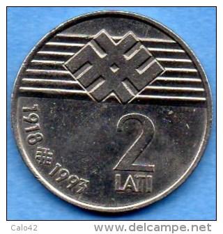 LATVIA / LETTONIE  2 LATI 1993  KM#18 - Latvia