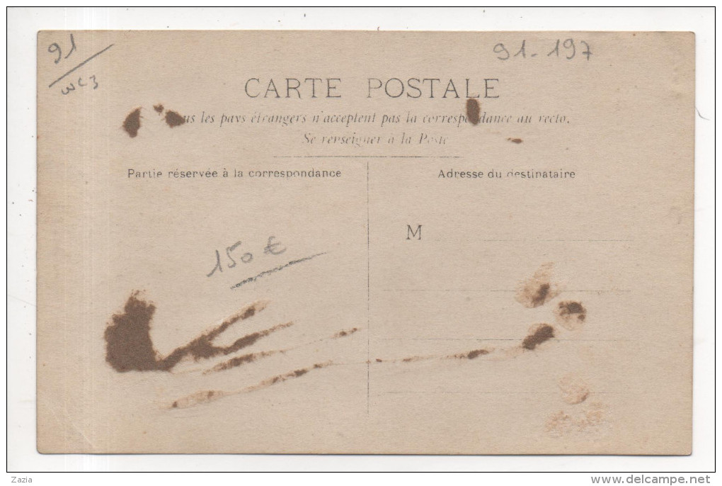 91.197/ Carte Photo - La Jeunesse Républicaine Du XIIIe à VILLEMOISSON 1909 - Andere Gemeenten