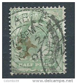 Gran Bretagna 1902 Usato - Half Penny Verde Chiaro - 1902-1951 (Re)