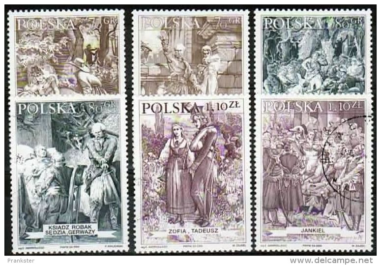 Poland Mi# 3838-3843 Used 2000: Heroes From Pan Tadeusz - 1944-.... Republic