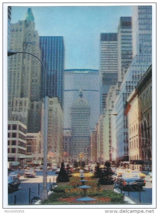 AP-8 - NEW YORK CITY - Park Avenue - PAN AM Building, Grand Central Station... - Animée - 3D Card - Scan Recto-verso - Manhattan