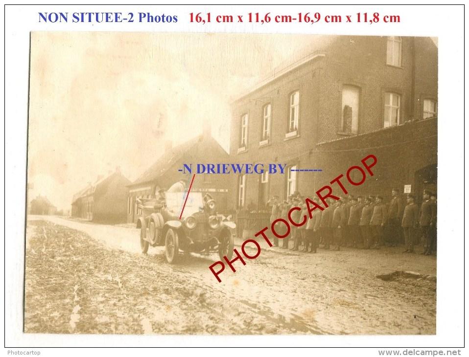 NON SITUE-Commerce-IN DRIEWEG BY ???-Automobile-2x Grosses PHOTOS Allemandes-Guerre 14-18-1WK-BELGIEN-FRANCE- - Non Classés