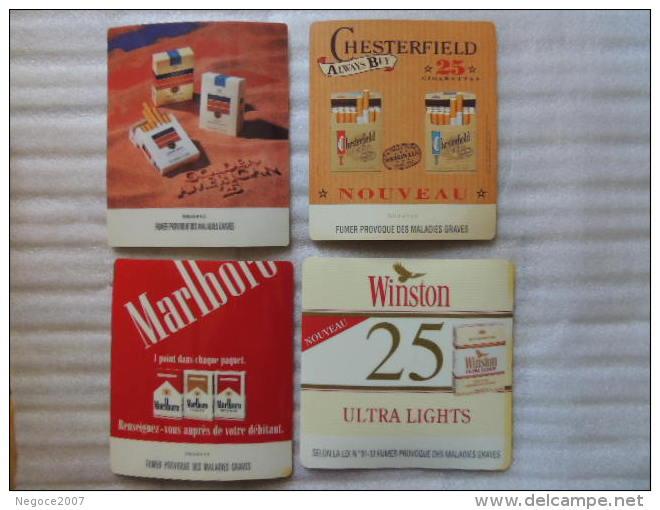 """Lot De 4 Tapis Plastique """"passe-monnaie"""" Neuf  Collector !!!!!!!!!!!! Lire La Description - Tabac (objets Liés)"""