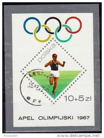 Poland Mi# Block 40 Used 1967:  Olympic Appeal - 1944-.... Republic