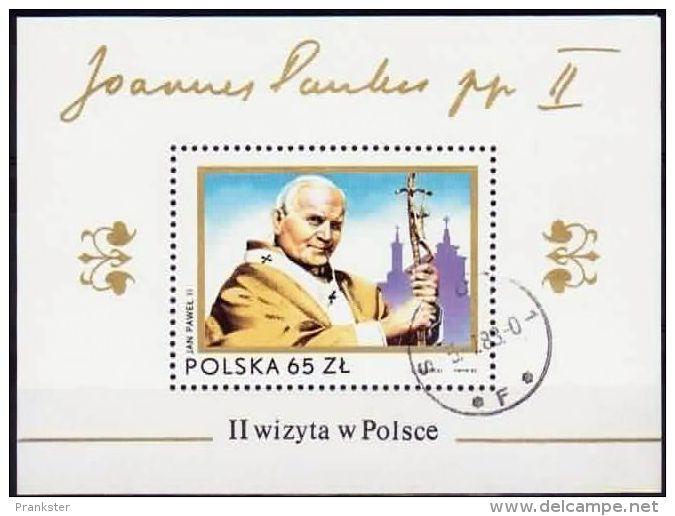 Poland Mi# Block 91 Used 1983: Second Visit Of Pope John Paul II To Poland - 1944-.... Republic