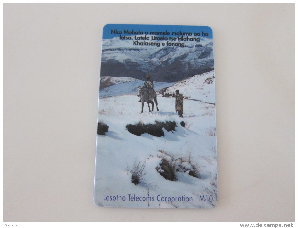 Chip Phonecard,first Issued, Used With Scratch - Lesotho