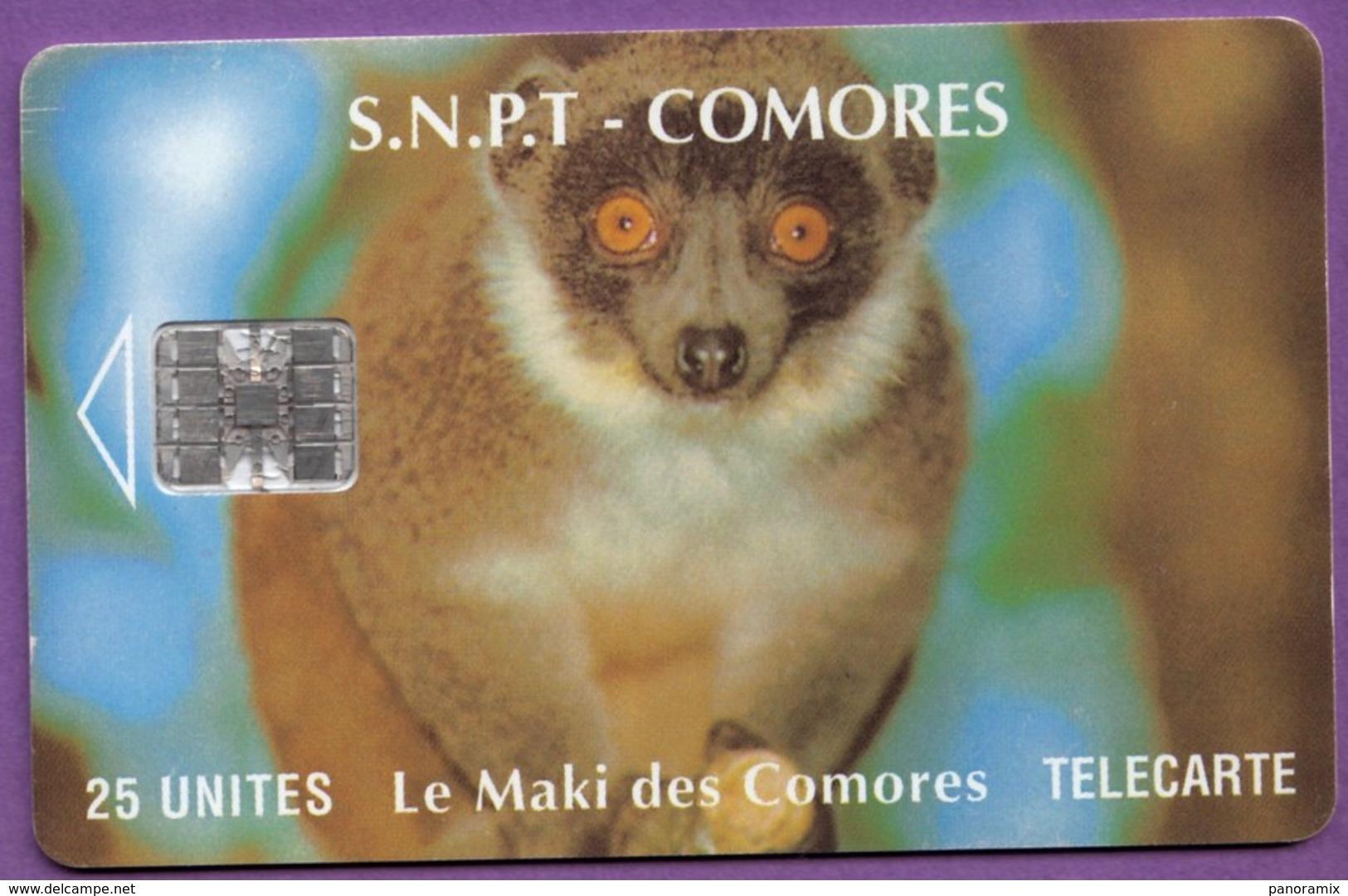 Télécarte Comores °° Maki Des Comores - N° Verso 00239739  ° T B E - Comores