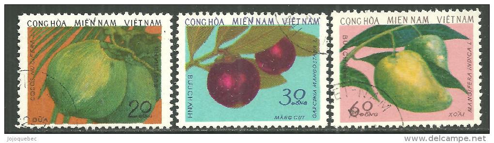 Viét-Nam Oblitérérs, Series Complet, USED, COMPLETE SERIES FRUITS 1976 - Vietnam