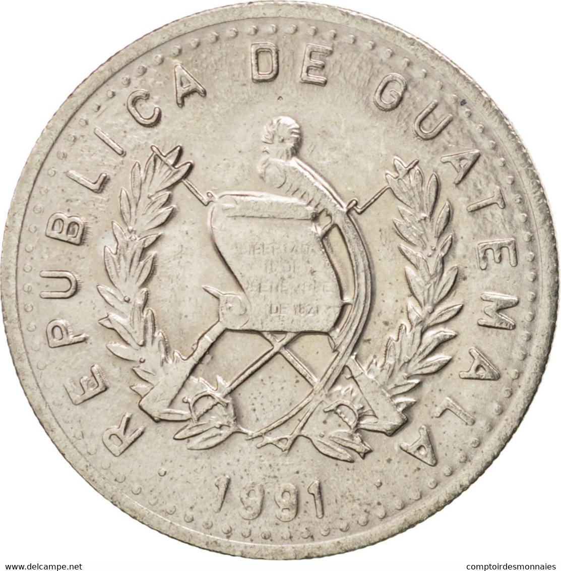 Guatemala, République, 10 Centavos 1991, KM 277.5 - Guatemala