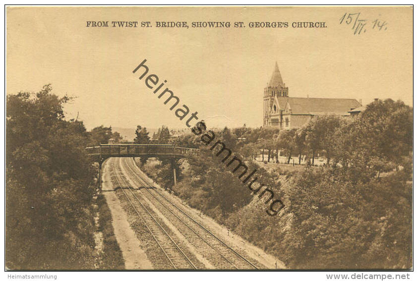 Port Elizabeth - From Twist St. Bridge - St. Georges Church - Eisenbahnstrecke - Südafrika